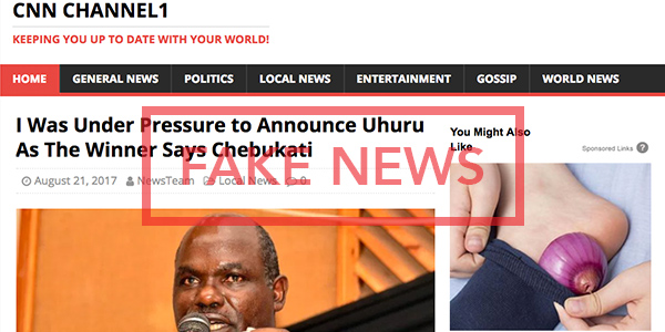 Fake Chebukati Statement