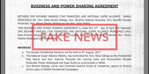 Fake Power Sharing Agreement