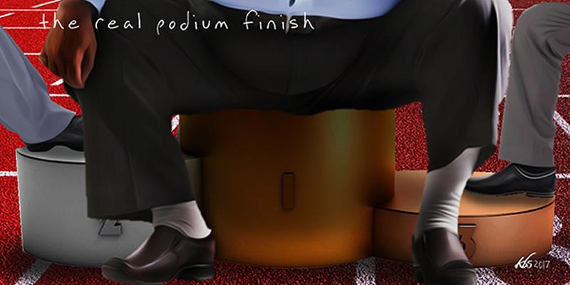 Election podium finish