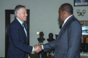 Uhuru Kenyatta with Tony Blair