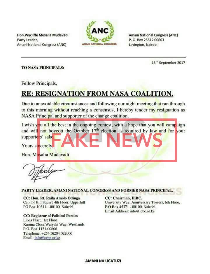 Fake Resignation Letter