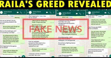 Fake Raila Greed Campaign