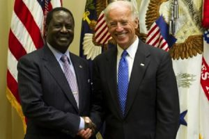Raila Odinga with Joe Biden