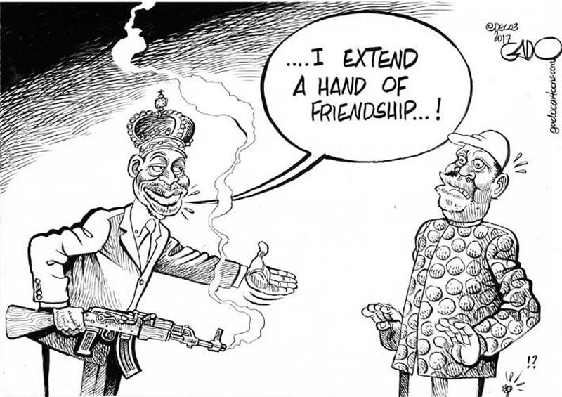 Extending a hand of friendship