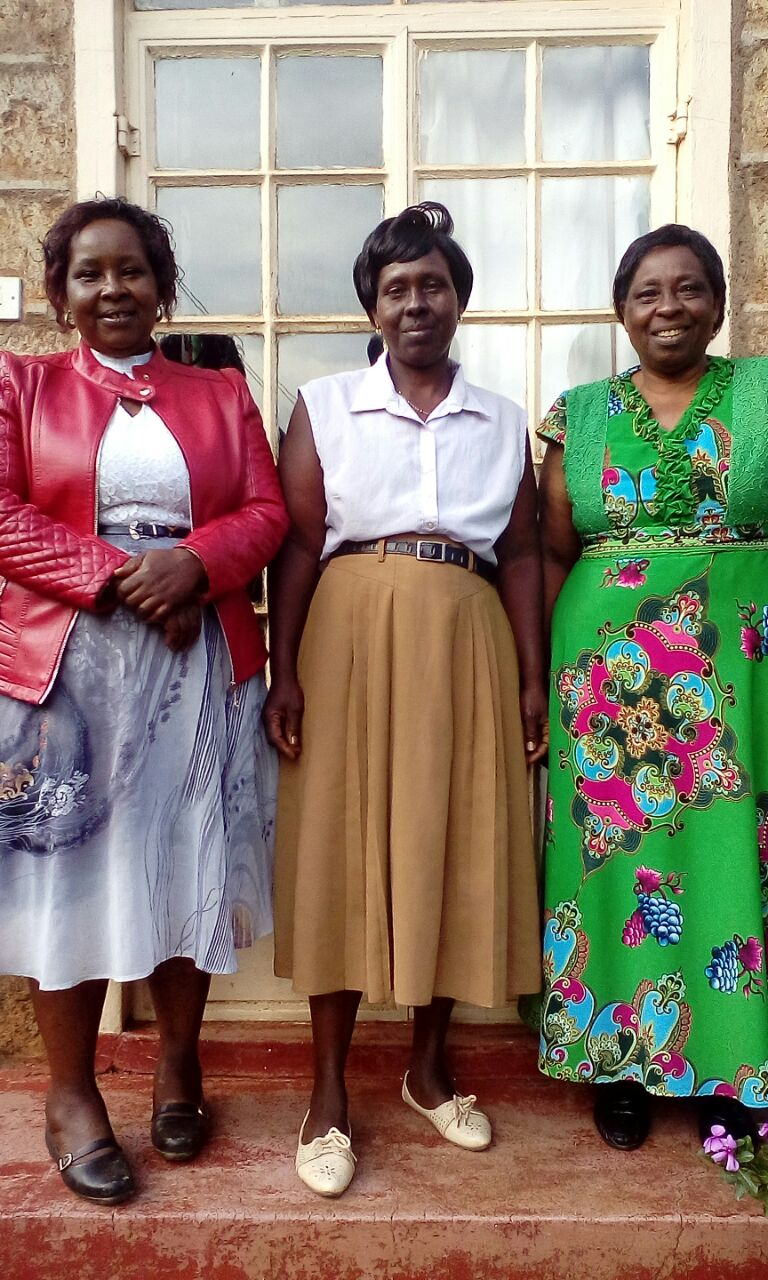 Kajuju (left) with her sisters Ann Peter (middle) and Jane Muriithi (right).