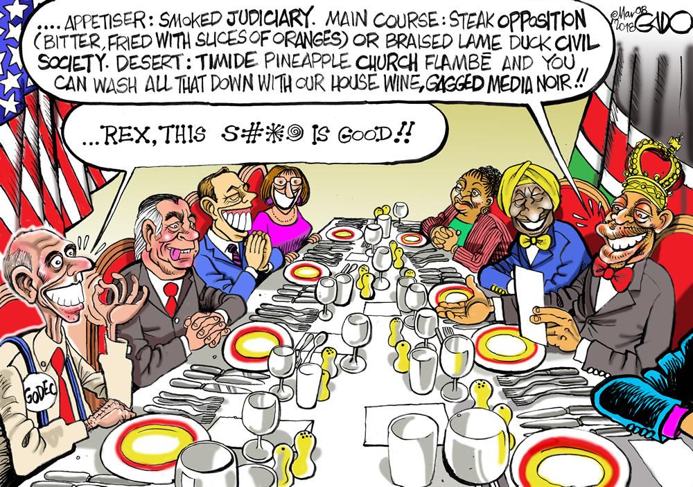Dinner with Rex Tillerson
