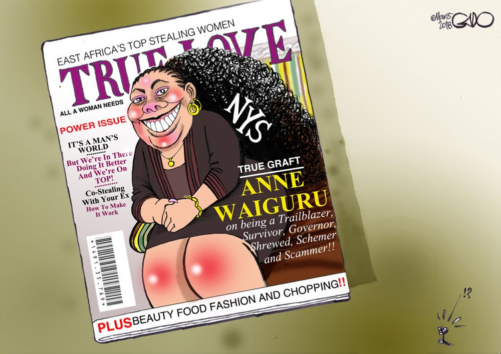 Ann Waiguru on True Love Cover