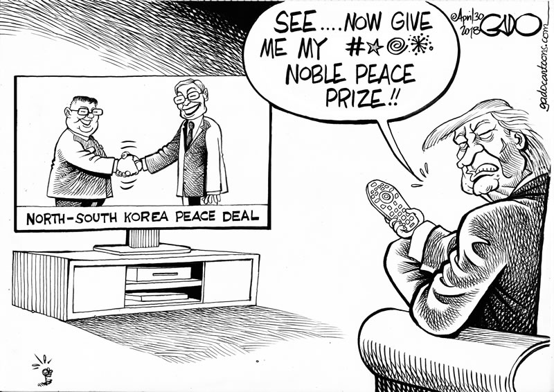 Trump and South - North Korea Peace Deal