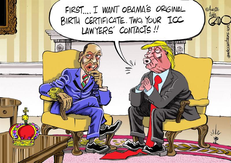 Uhuru Meets Trump