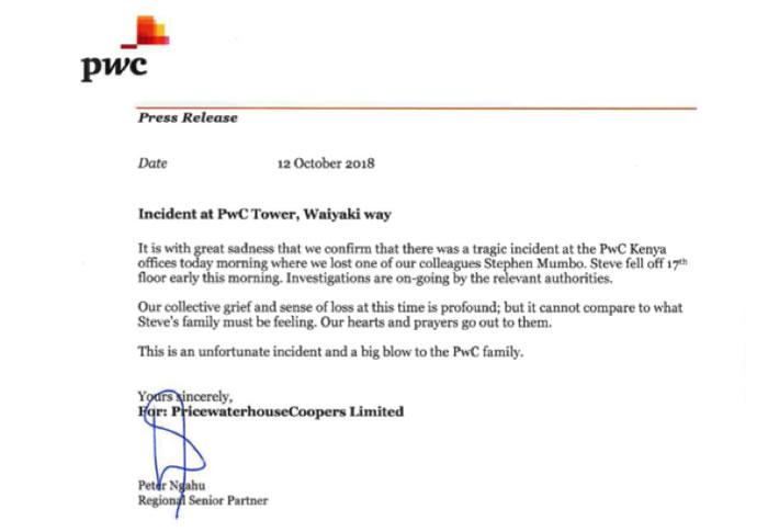 PwC Press Release