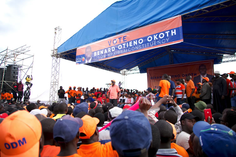 Rally to drum up support for Imran Okoth, ODM's candidate for Kibra by-election.