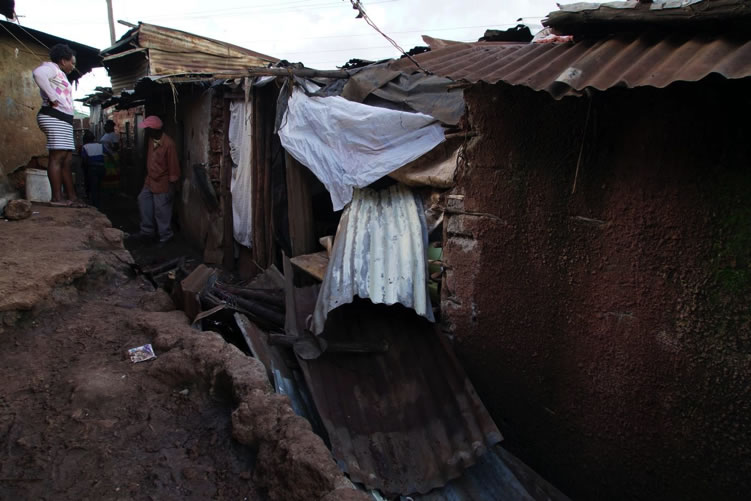A family house demolished in a political violence encounter in Kibra.