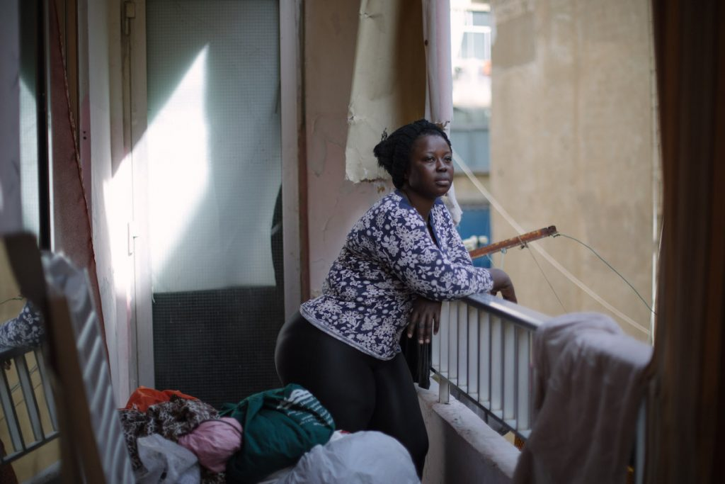 Sierra Leonean domestic worker in Beirut, Lebanon.