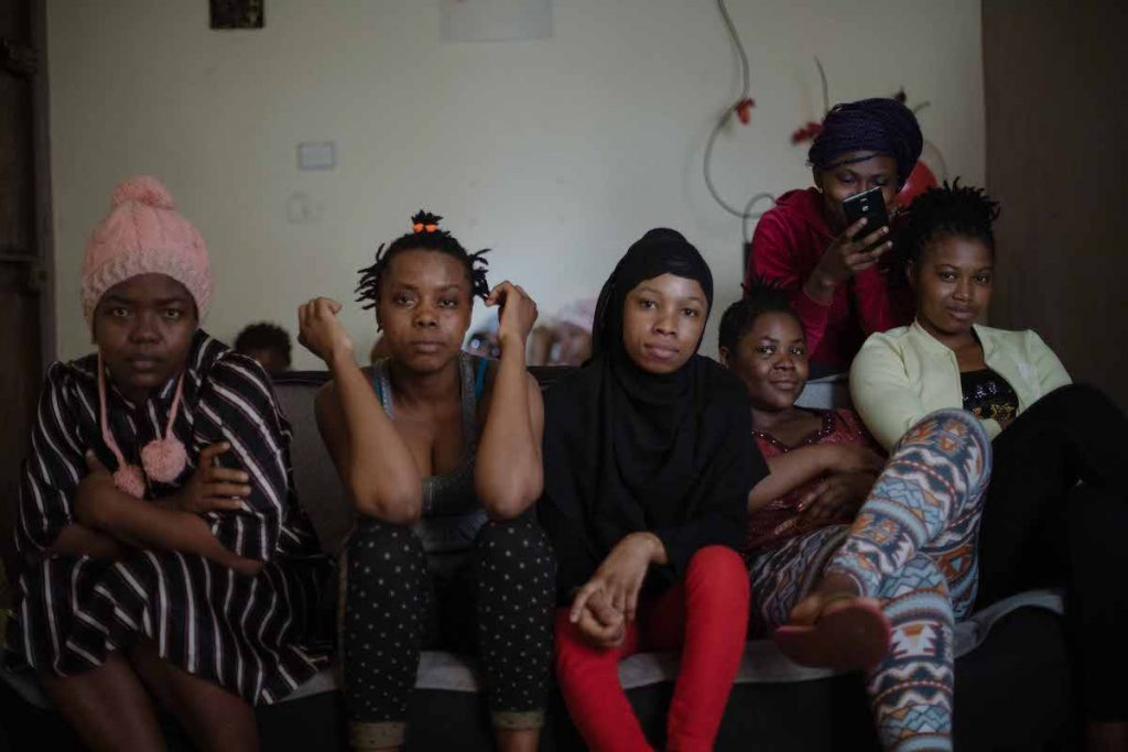 Domestic workers rescued by the Sierra Leone Committee. They see themselves as a sisterhood.