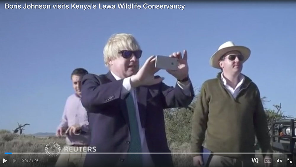Boris Johnson visits Kenya's Lewa Wildlife Conservancy. Reuters