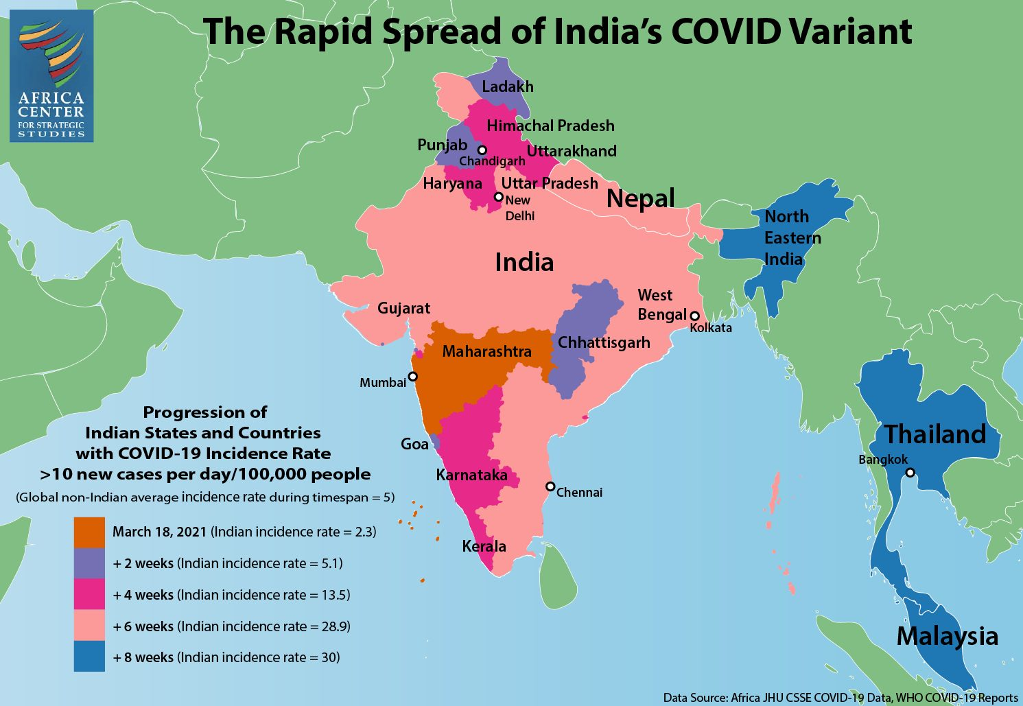 The Rapid Spread of India's COVID Variant