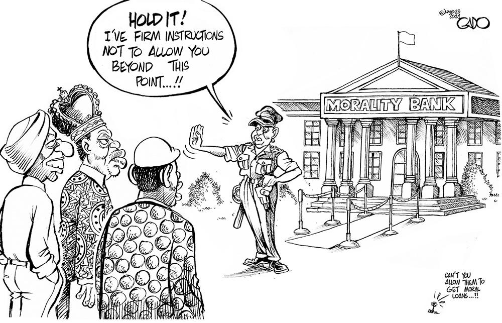 Uhuru, Raila and Ruto at The Morality Bank