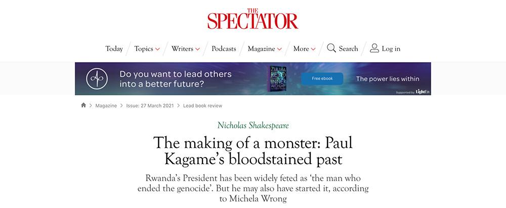 Spectator headline