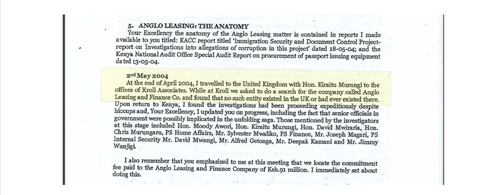 2. Excerpt from the Anglo Leasing Report