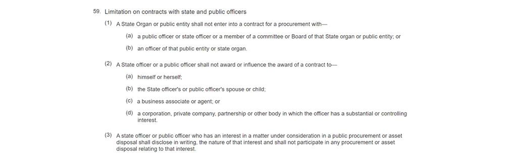 Source: Public Procurement and Asset Disposal Act, No. 33 of 2015