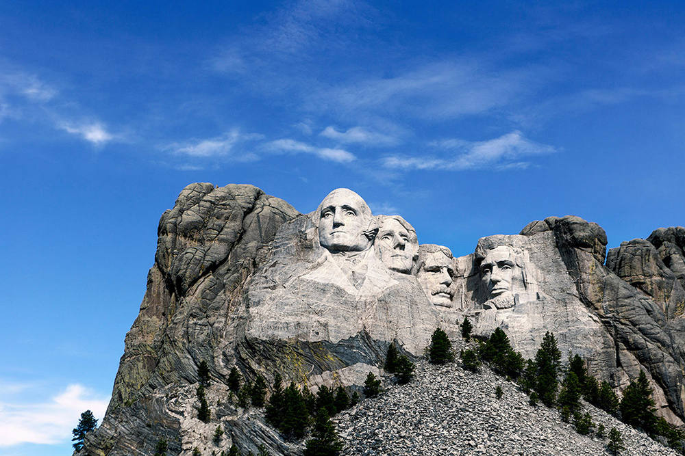 South Dakota's Mount Rushmore. Credit: Images By T.O.K. / Alamy Stock Photo